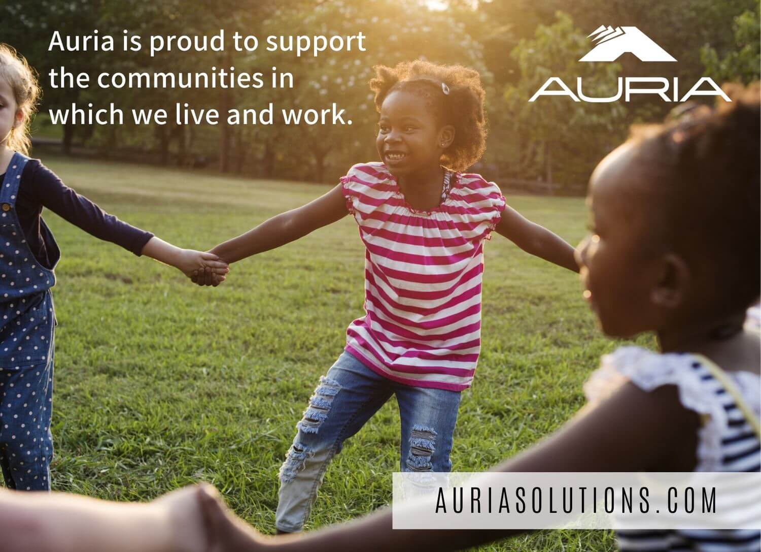 Auria is proud to support the communities in which we live and work