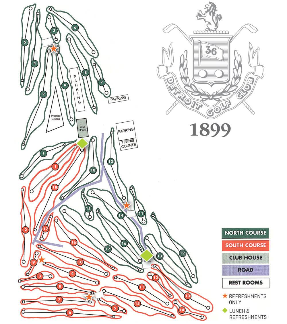 Detroit Golf Club Map