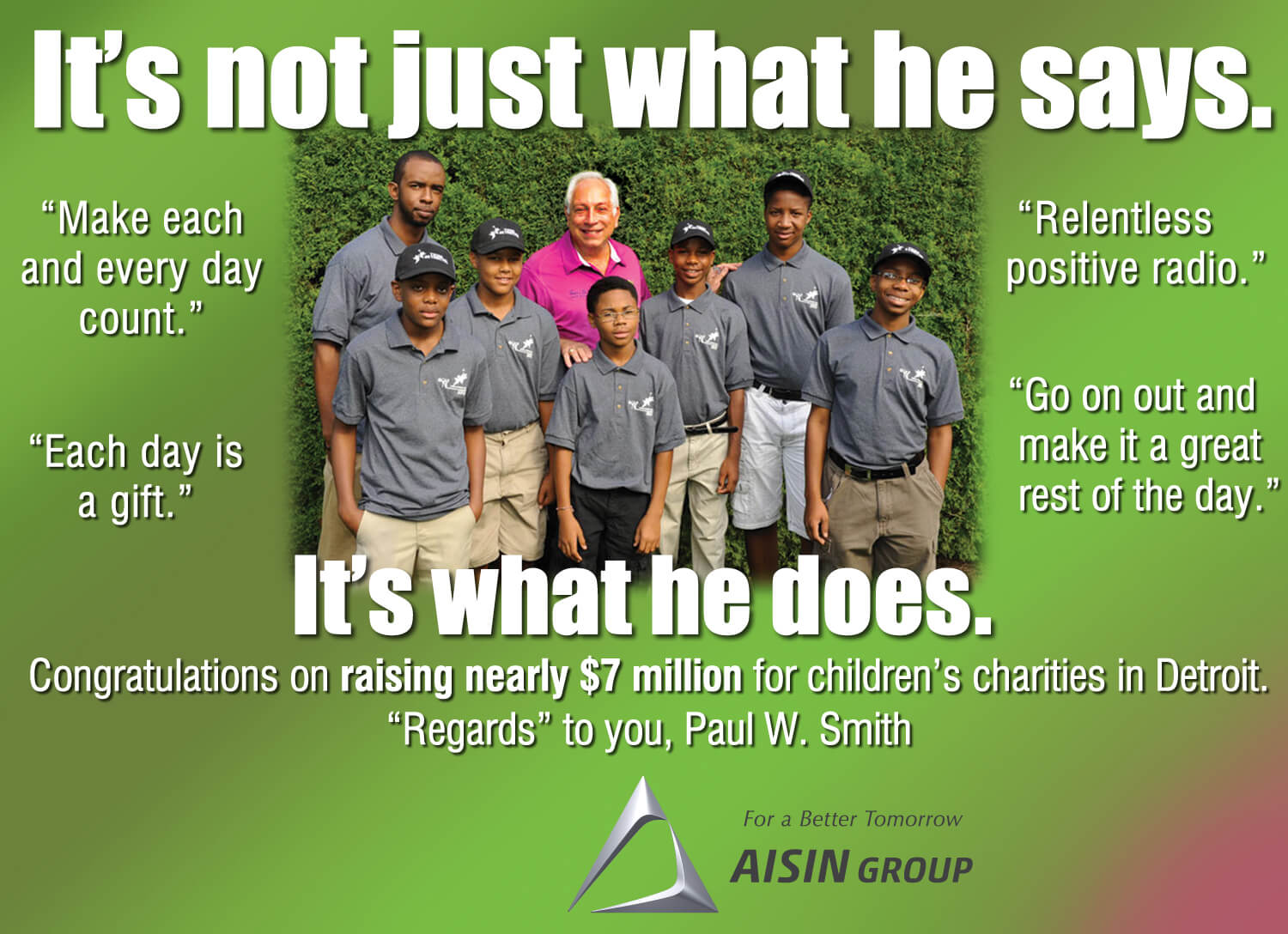 Aisin group for a better tomorrow