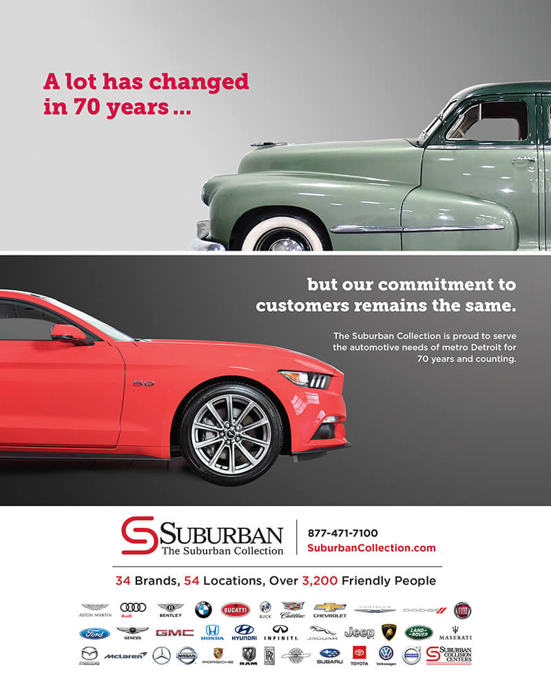 The Suburban Collection Ad