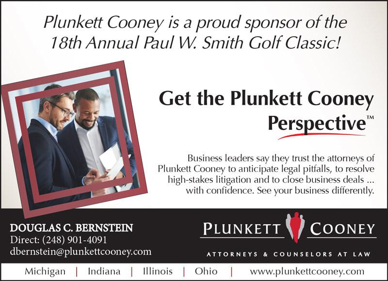 Plunkett Cooney Sponsor ad