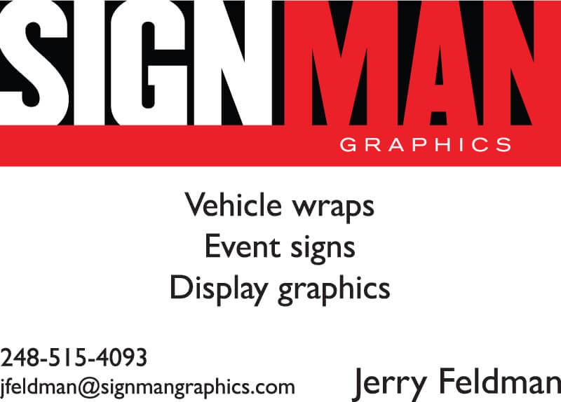 Signman graphics sponsor ad
