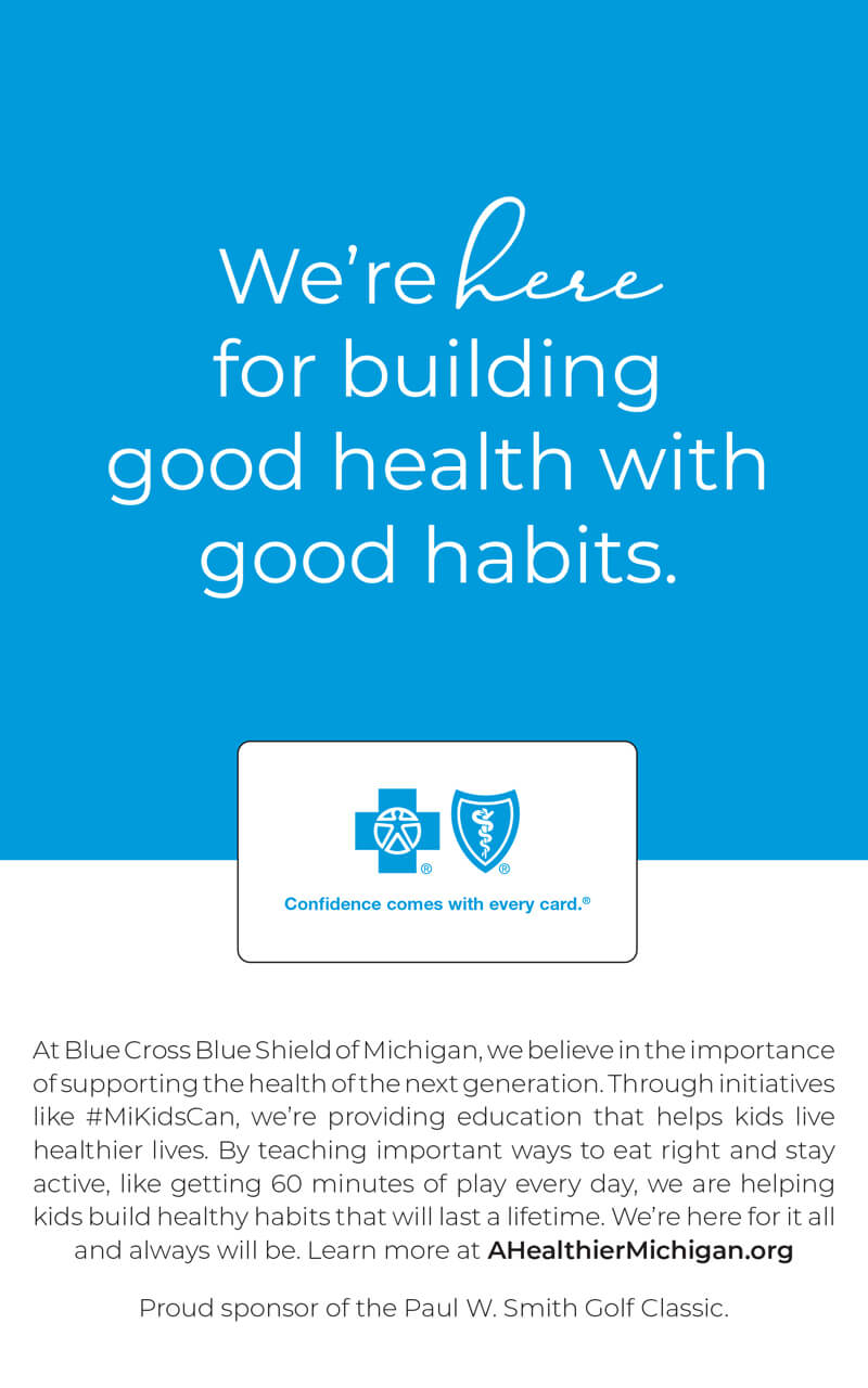 Blue Cross Blue Shield Sponsor ad